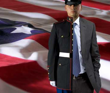 businessman soldier