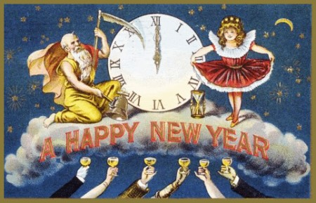 Baby New Year Father Time
