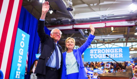 bernie and Hillary together
