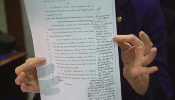 tax bill handwritten