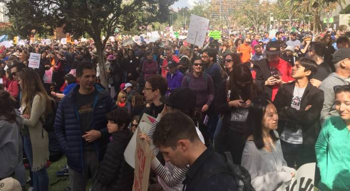 EXCLUSIVE: Video and Photos from The March For Our Lives in Los Angeles