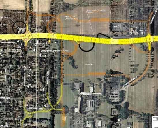 "Route 1 alternate ""Princeton Plan"""