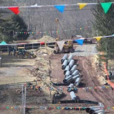 PCurrent Transco pipeline construction in Hunterdon County. Photo: Fight the Pipe.