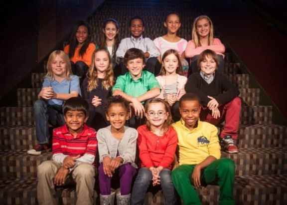 """A Christmas Carol"" children's cast members. Photo by Matt Pilsner."