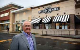 Harry Rose, chairman of The Rose Group, at the new Corner Bakery Cafe at MarketFair.