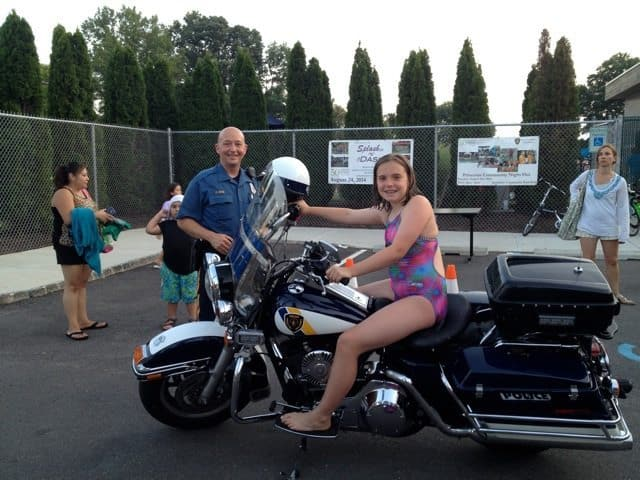 Police served more than 1,500 hot dogs at the 2014 Community Night Out in Princeton.