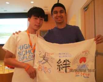 Maruto Akiyama (l) of Japan with roommate Shivam Batt of Edison this summer at Princeton University.