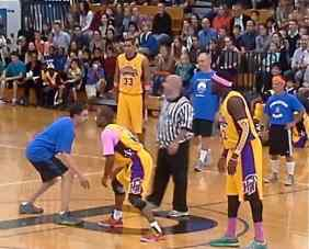 The Princeton Education Foundation All Stars go head to head with the Harlem Wizards. File photo.
