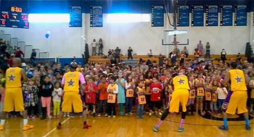 The audience got in on the act at the Harlem Wizards event Sunday, Oct. 12 at Princeton High School.