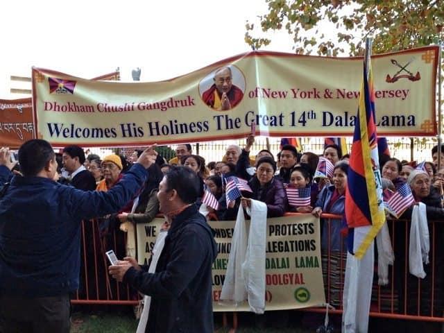 Dalai Lama supporters Princeton
