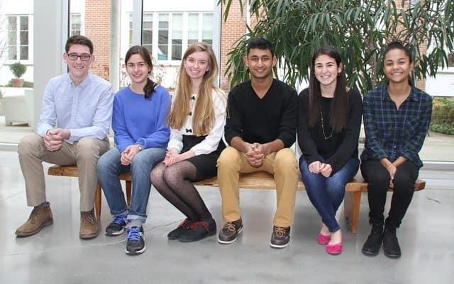 Photo (l-r): Michael Kearney, Pria Louka, Katherine Venturo-Conerly, Navin Rao, Caroline Lippman, Kayla Stokes.