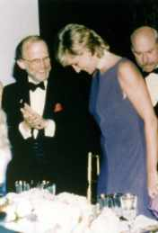 Jones with Princess Diana.