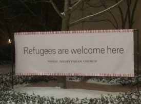 The sign that was stolen from Nassau Presbyterian Church.