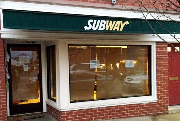 subway witherspoon st princeton