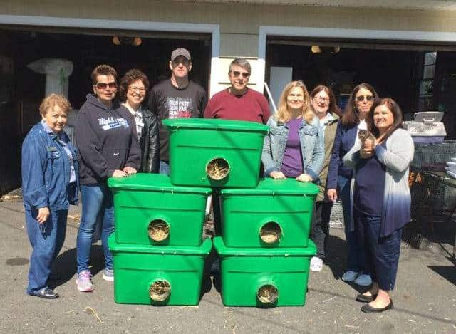 Cares Day volunteers from Coldwell Banker Residential Brokerage in Princeton Junction (l-r): Mary Reiling, Michele DeLiberto, Marina Shikman, Steven Egan, Gilbert Cheeseman, Karen Wagner, Colette Sandberg, Kathleen Terzian and Robyn Bohall.