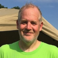 David Gorman just after finishing the September 5-mile race in preparation for the Princeton Half Marathon.