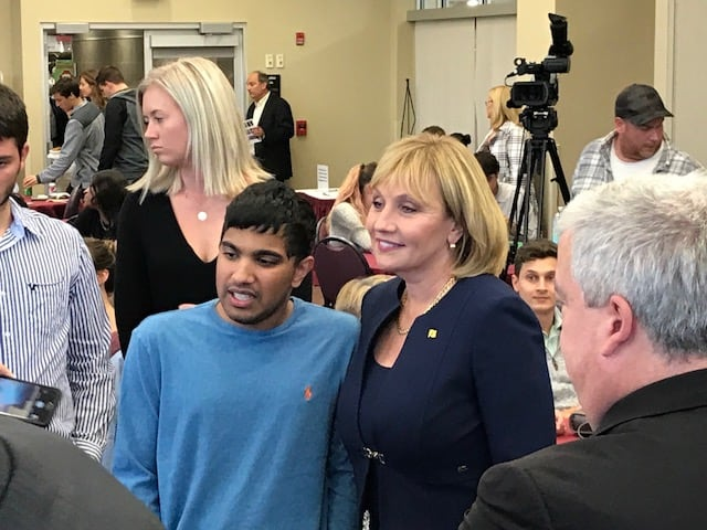 Guadagno promises property tax reform at Rider University visit