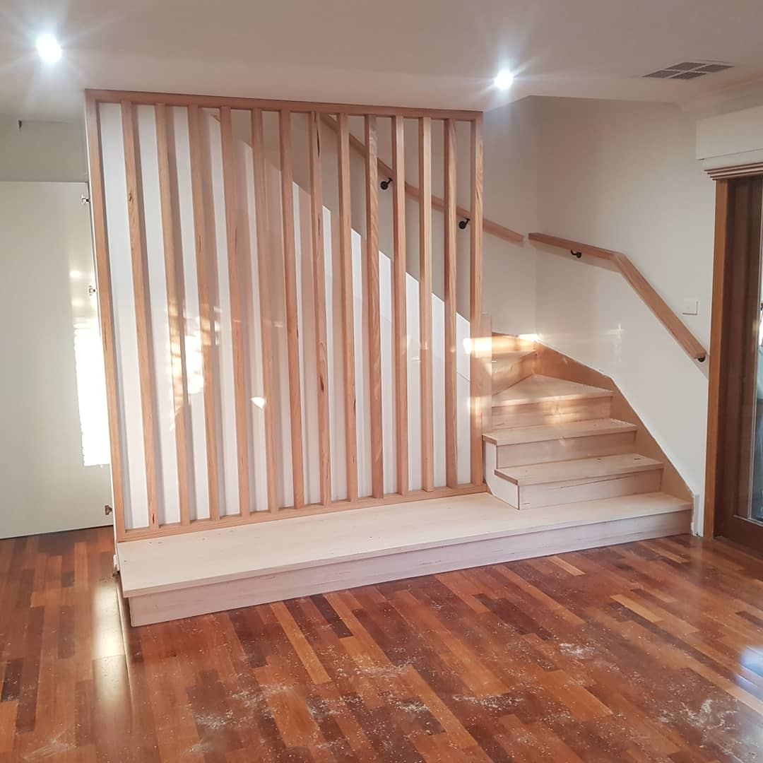 Vic Ash Timber Slat Wall Planet Stairs Melbourne