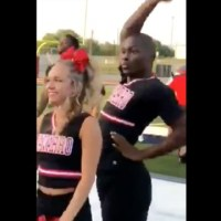 Gettin' It: Black Male Cheerleader Putting A Little Flavor In The Routine!