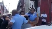 Man Exchanges Blows With A Philadelphia Cop Then Swings On His Female Partner!