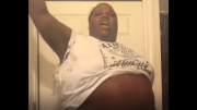 She Hype: Big Girl Dances With Her Belly Out To Drug Dealer Song!
