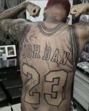 Dope: Man Got Michael Jordan Jersey Tattooed On His Back!