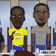 Things Get Heated At Golden States Thanksgiving Dinner! (Cartoon Comedy)