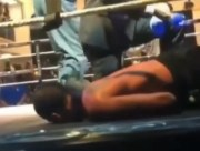 Night Night: Boxer KO's Opponent.. Hits The Canvas Like Martin (Falls Slow Motion) + Funny Commentary Version