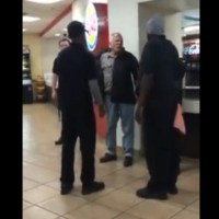 "He's Slapping People: Crazy Man Slaps Burger King Employee! ""I'm The Boss"" (Rewind Clip)"