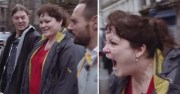 Socially Inept Woman Shrieks At A Man Trying To Give Her Free Cash!