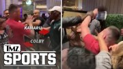 Kamaru Usman & Colby Covington Square Up in Casino Day After UFC 235 | TMZ Sports