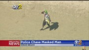 Los Angeles Police Chase Ends In Bizarre Arrest Of A Man Wearing A Joker Mask!