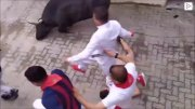 "Whoa: Man Gets Trampled During ""Running Of The Bulls"" Event!"