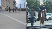 SMDH: Officers On Horseback Led A Black Suspect Through The Streets By A Rope!