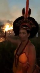 Just Sad: Native Pataxó Woman Witnessing The Destruction Of Her Home In The Amazon!
