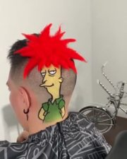 This Next Level: Dude Got The Sideshow Bob Haircut!