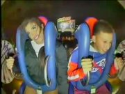 Too Hype: Shorty Was Out Here Making All Kinds Of Faces During This Slingshot Ride!