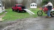 Fail: How Not To Load A Dirt-Bike In A Truck!