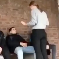 German Girl Smacks Boy And Immediately Regrets It!