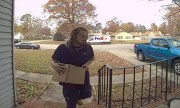 Caught On Ring: Fed Ex Delivery Driver In VA… Steals Fresh Blunt Off The Ash Tray!