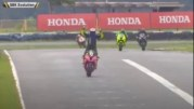 Fail: Motorcycle Racer Takes An L After Celebrating Way Too Soon!