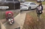 Be Careful Who You Have Children With: Baby Mama Drops Off Her Daughter In The Freezing Cold… On Doorstep Of The Father!