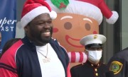 50 Cent Makes Surprise Visit at Toy Drive in Houston Texas!