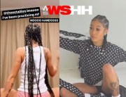 Putting On For The Skinny Girls? Coi Leray (Benzino's Daughter) Does The Cry Baby Challenge!