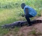 Damn Is She Ok? When Petting And Posing With A Crocodile Goes Wrong!
