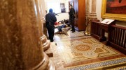 Capitol Building Cop Runs Away From Trump Protesters!
