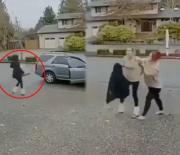 Robbery Gone Wrong: Woman Takes A Huge L Trying To Take Off With Someone's Package!