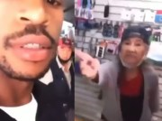 Grandma Was About The Business & Ready For All The Smoke: Rapper Slides Through & Tries To Troll Asian Store Owners!
