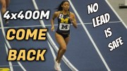 Ziyah Holman's incredible comeback in 4×400 relay for Michigan