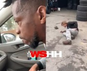 """Dont Sleep With My Girl No More"" Boyfriend Pulls Up On His Girl's Side Dude At His Job & Drops Him!"